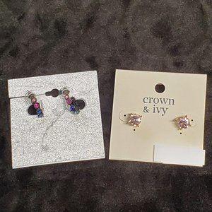 Crown & Ivy/Kohl's Gemstone Earring Set